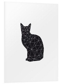 Foam board print  Black Cat - Nouveau Prints