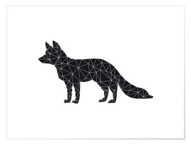 Premium poster  Black fox - Nouveau Prints