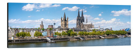 Aluminium print  Cologne Rheinufer with cathedral and town hall - Jan Christopher Becke