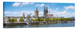Canvas print  Cologne Rheinufer with cathedral and town hall - Jan Christopher Becke