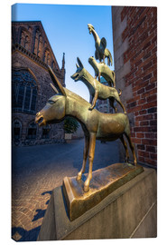 Canvas print  The statue of the Bremen Town Musicians - Jan Christopher Becke