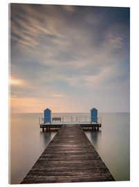Acrylic print  Jetty on the Baltic Sea (1) - Heiko Mundel