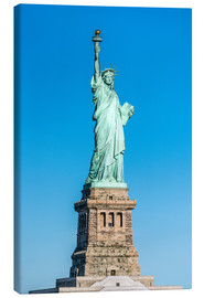 Canvas  Statue of Liberty on Liberty Island, New York City, USA - Jan Christopher Becke