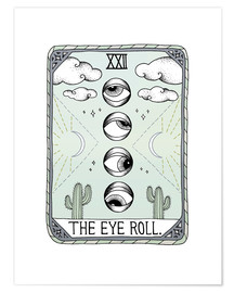 Premium poster  The Eye Roll, Tarot card - Barlena
