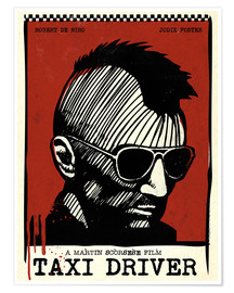 Premium poster Alternative taxi driver art film