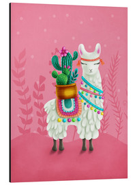 Alu-Dibond  Illustration of a cute llama - Elena Schweitzer