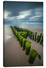 Canvas print  Mystical groyne at Sylt - Heiko Mundel