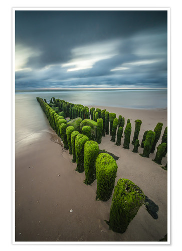 Premium poster Mystical groyne at Sylt