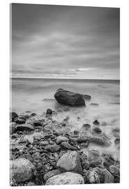 Acrylic print  Granite in the Baltic Sea (long exposure) - Heiko Mundel