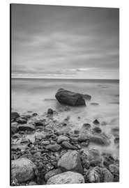 Aluminium print  Granite in the Baltic Sea (long exposure) - Heiko Mundel