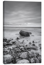 Canvas print  Granite in the Baltic Sea (long exposure) - Heiko Mundel