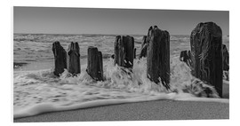 Foam board print  Groyne with waves - Heiko Mundel