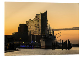 Acrylic glass  Morning mood at the Elbphilharmonie, Hamburg - Heiko Mundel