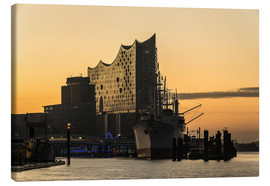 Canvas print  Morning mood at the Elbphilharmonie, Hamburg - Heiko Mundel