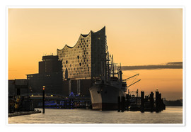 Premium poster  Morning mood at the Elbphilharmonie, Hamburg - Heiko Mundel