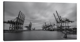 Canvas print  Containerhafen Hamburg Waltershof (long exposure) - Heiko Mundel