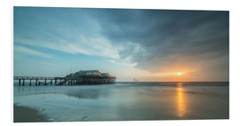 Foam board print  Sunset at the beach bar 54Grad in St.Peter-Ording - Heiko Mundel