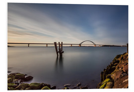 Foam board print  Fehmarnsund Bridge in the evening light (long exposure) - Heiko Mundel