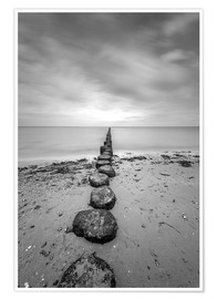 Premium poster  Groyne on Rügen (long exposure) - Heiko Mundel
