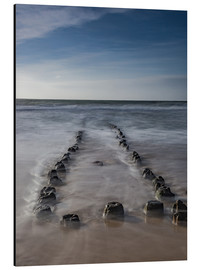 Aluminium print  Groyne on Sylt (long exposure) - Heiko Mundel