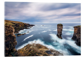 Acrylic print  Yesnaby Cliffs on Orkney Islands - Reemt Peters-Hein