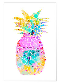 Premium poster  Ananas - Miss Coopers Lounge