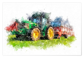Premium poster  tractor - Peter Roder