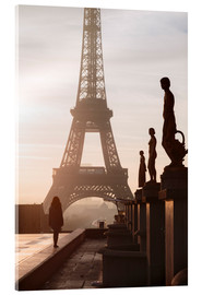 Acrylic print  Eiffel tower from Trocadero, Paris - Matteo Colombo