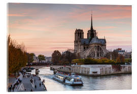 Acrylic print  Sunset over Notre Dame, Paris - Matteo Colombo