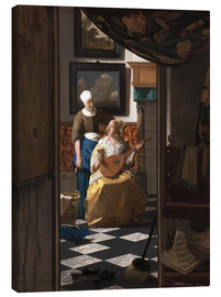 Canvas  the love letter - Jan Vermeer