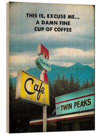 Wood print  Twin Peaks - 2ToastDesign