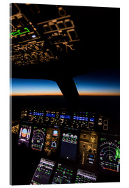 Acrylic print  Airbus A380 Cockpit at twilight - Ulrich Beinert
