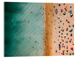 Acrylic print  Aerial view of people at the beach in Portugal - Radu Bercan