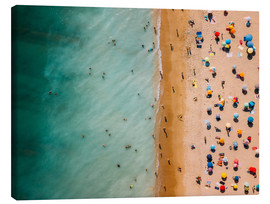 Canvas print  Aerial view of people at the beach in Portugal - Radu Bercan