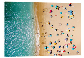 Acrylic glass  Aerial View Of People on Summer Holiday - Radu Bercan