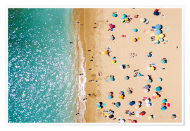 Poster  Aerial View Of People In Summer Holiday - Radu Bercan