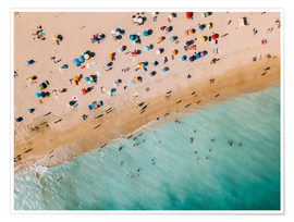 Premium poster  Vacationers on the beach in Lagos, Portugal - Radu Bercan