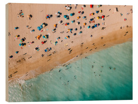 Wood print  Vacationers on the beach in Lagos, Portugal - Radu Bercan