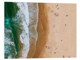 Foam board print  At the beach of the Algarve - Radu Bercan