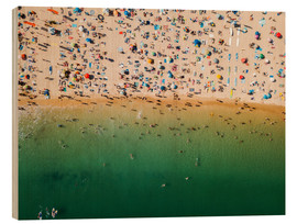 Wood print  Overcrowded sandy beach of Algarve - Radu Bercan