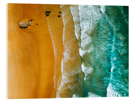 Acrylic print  Turquoise ocean waves and tropical sand beach - Radu Bercan