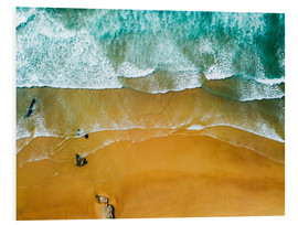 Foam board print  Blue Ocean Waves And Beautiful Sandy Beach in Portugal - Radu Bercan