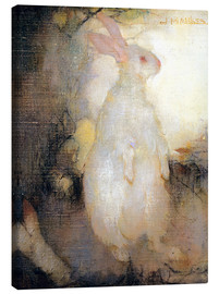 Canvas print  White rabbit, standing - Jan Mankes