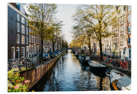 Foam board print  Beautiful Autumn In Amsterdam City - Radu Bercan
