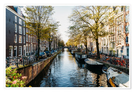 Premium poster  Beautiful Autumn In Amsterdam City - Radu Bercan