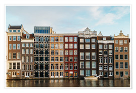 Premium poster Colorful House Facade Amsterdam