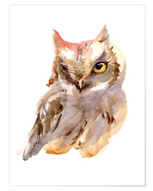 Premium poster Owl watercolor
