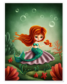 Premium poster  Little mermaid - Elena Schweitzer