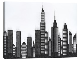 Canvas print  Black and White Sketch Of New York City Skyline - Radu Bercan