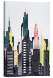 Canvas print  Colorful City Of New York City Sketch - Radu Bercan